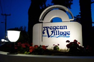 Lagas Aegean Village Sign