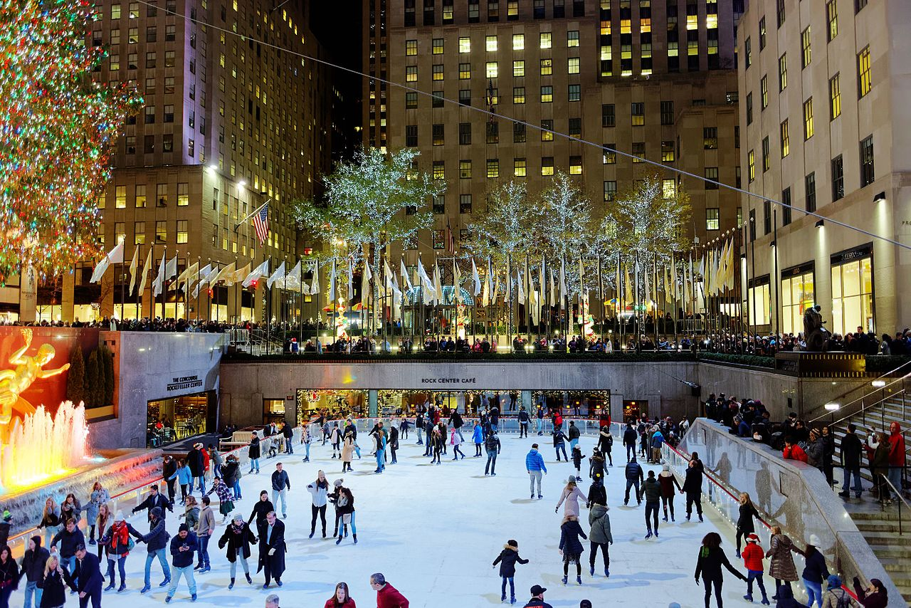9. Ice skate at the Rockefeller Center Christmas tree